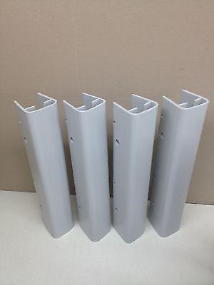 Lot Of 4 New 18 Plastic Ridg-u-rak Pallet Rack Upright Post Protector