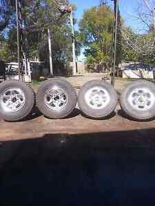 4 wheel drive chrome wheels 6 stud Horseshoe Bend Maitland Area Preview