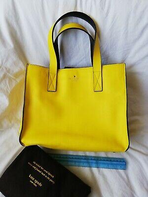 Kate Spade yellow Leather tote grab bag