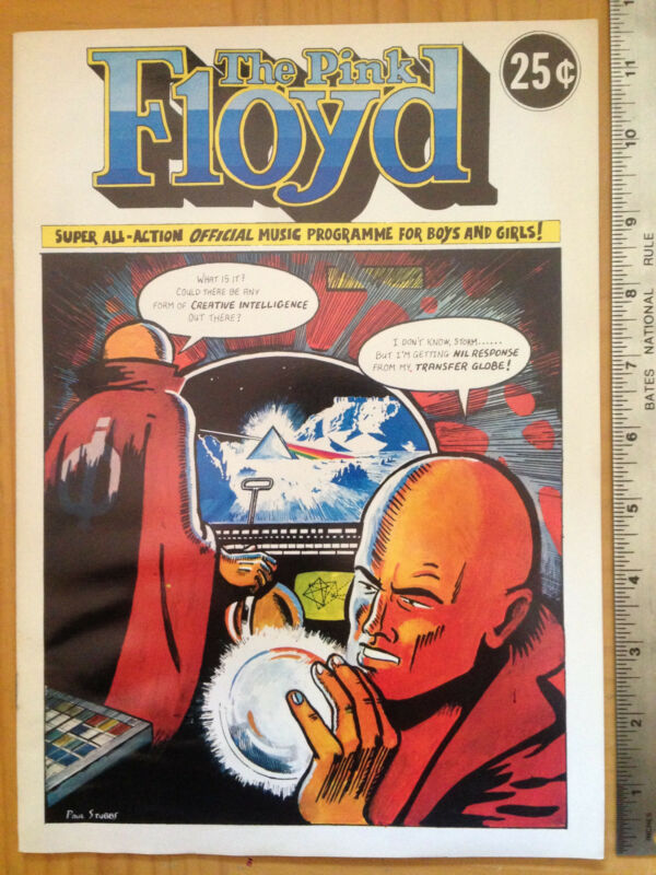 Pink Floyd Orig 1974 Comic Book Tour Program Dark Side of the Moon Gerald Scarfe