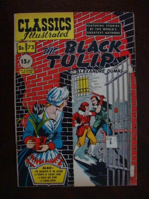 Classics Illustrated #73 1st ED VG/F The Black Tulip