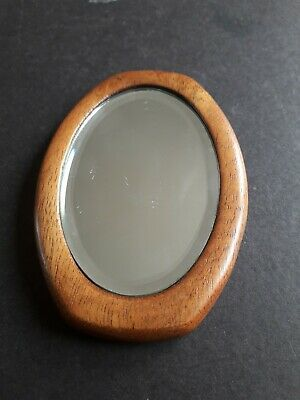 WOODEN FRAME HAND MIRROR SUITABLE FOR YOUR HANDBAG.