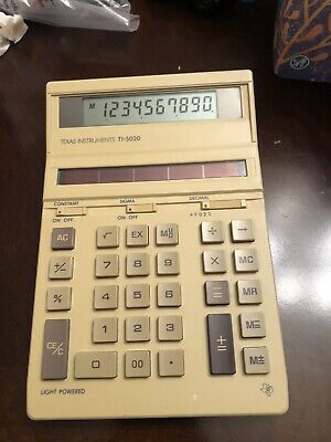 Texas Instruments TI-5020 Calculator Accounting Bookkeeping Light Power Vintage