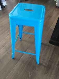 2 Blue Bar Stools