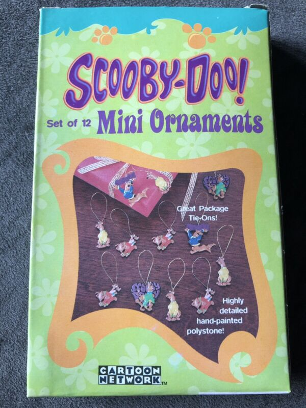 New Box Of 12 Scooby Doo Mini Ornaments Holiday Package Ties Cartoon Network