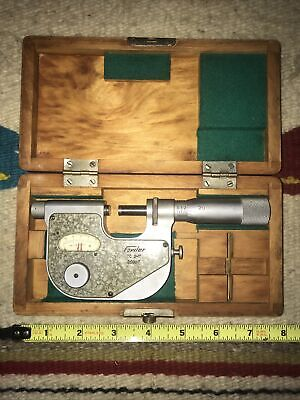 Fowler Tc 01 One Inch Outside Micrometer With .0001 Scale With Case 52-245-001