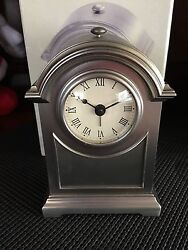 Royal Limited Silver Medium Arch Alarm Mantel/tabletop Clock