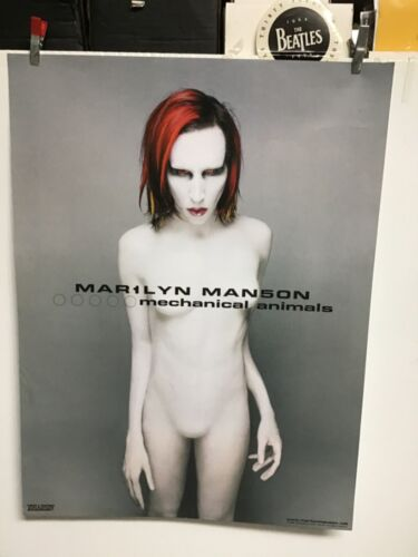 "Marilyn Manson 1998 ""Mechanical Animals""promo poster"