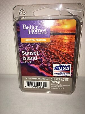 Better Homes And Gardens Scented Wax Cubes Sunset Island Sands Limited Edition