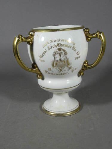 Gorgeous Antique 1909 Masonic Loving Cup ROYAL ARCH CHAPTER 43 LANCASTER PENNSYL