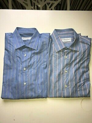 Lot  de 2 chemises  burberry  taille  16 1/2   neuf