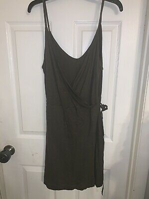 T. Womens Size Large H&M Olive Green Dress