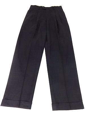 ROUNDTREE & YORKE MENS BLACK & NAVY DRESS PANTS SIZE 30 X 30