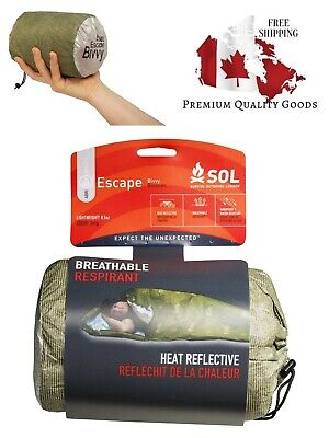 S.O.L. Survive Outdoors Longer 70 Percent Heat Reflective Escape Bivvy, OD Green