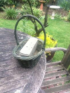 Wicker Basket / Flower Arrangement Floral Art