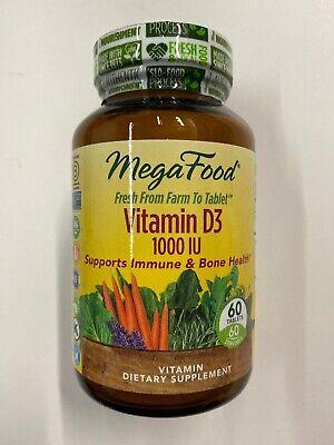 MegaFood Vitamin D3 1000 IU-Farm to Tablet-Supports Immune & Bone Health 60 tabs Immune 60 Tabs