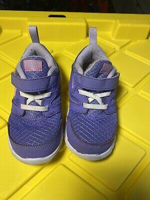 Baby Girls Toddler NIKE Shoes Purple  Size 8c Great Shape