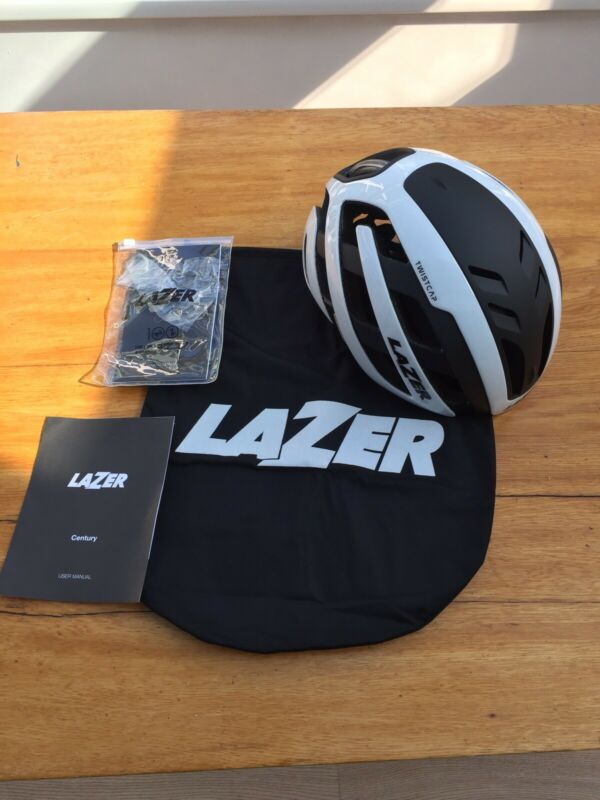 Lazer Century Helmet Size Medium. BNWT. White and Black