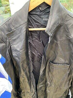 Hugo Boss Leather Jacket (46in)