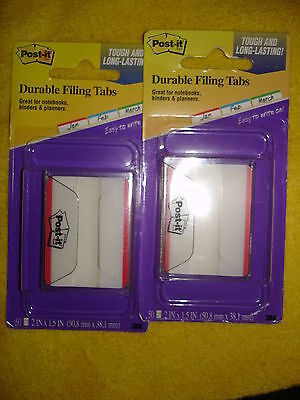 Post-it Durable Filing Tabs 686f-50rd Lot Of 2
