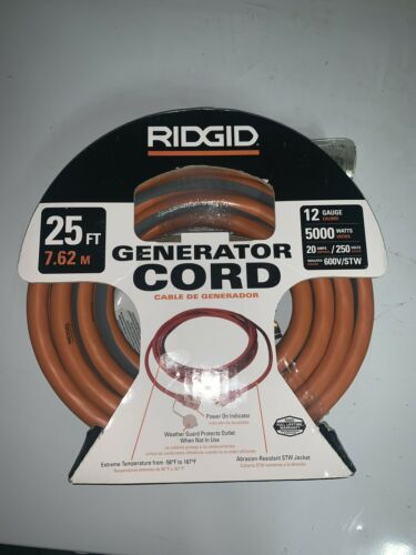 25ft generator cord 12 gauge 615 16046ab