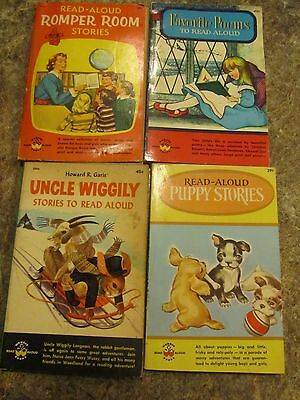 Lot of 4 vintage Read Alloud books - Romper Room Uncle Wiggily - LUD