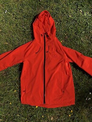 Hummel Classic 3 Layer Waterproof Neon Orange Jacket Size Medium