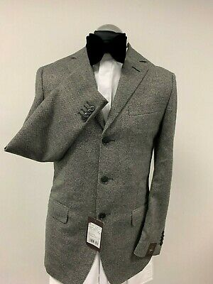 ZEGNA CITY LIGHT BLAZER /SUIT JACKET GREY PURE WOOL SIZE 36R BNWT