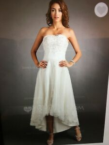 Wedding dress sz 16. white - never worn