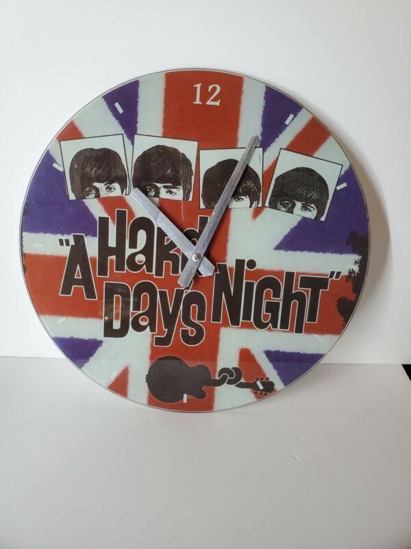 "Vintage The Beatles Wall Clock ""A Hard Days Night"" 1985 The Beatles RARE"