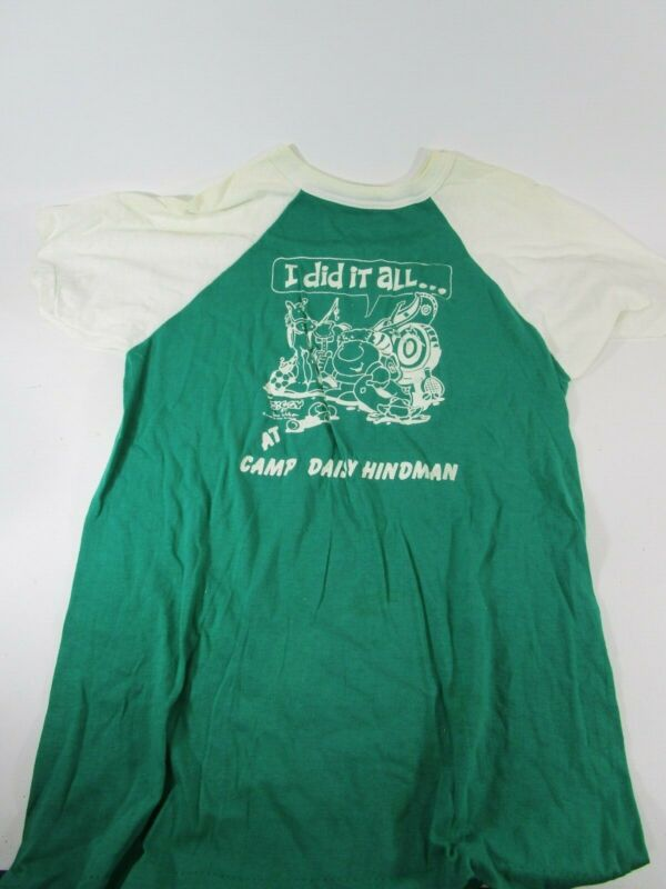 Vintage retro Girl Scout leader T-Shirt cookie camp green/white no size