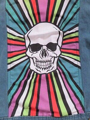 Hoxton denim SKULL  jacket faded style.SKA,UNISEX punk ELECTRO  POP ART