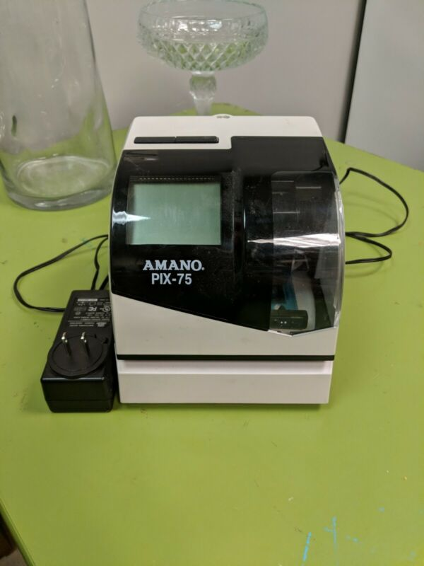 Amano Pix 75 Timeclock, Good condition free shipping