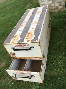 Truck bed storage compartments