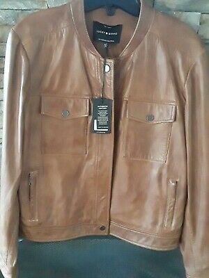 Womens lucky brand leather jacket large.Authentic leather.