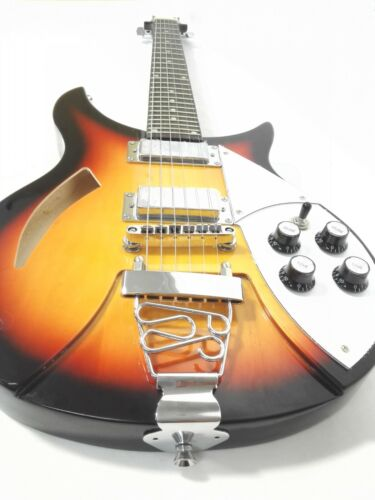 Haze HSRC 1910 Semi-Hollow Body Electric Guitar,H-H,Sunburst+Free Gig Bag,3 Pick