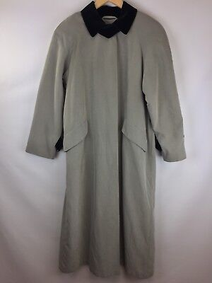 Anne Klein Womens Size 4 Petite Trench Coat Gray Black