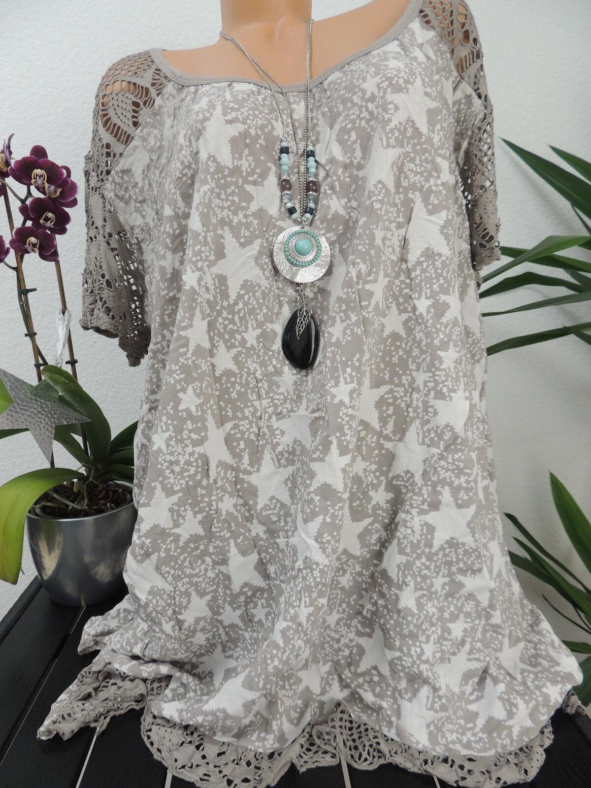 Damen Bluse Größe 46 48 50 52 54 Übergröße Tunika Blusen Shirt Batik Spitze 81 Blusen, Tops & Shirts Damenmode