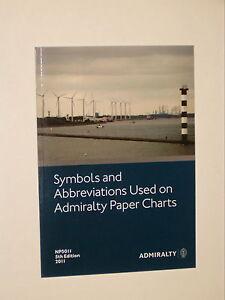 BRITISH ADMIRALTY NP5011 CHART SYMBOLS & ABBREVIATIONS Latest 2016 Edition - NEW