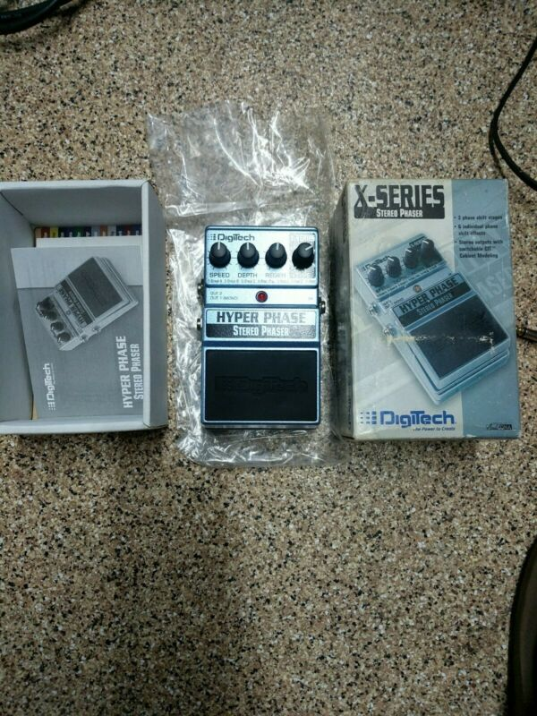 Digitech Hyper Phase Stereo Phaser Effects Pedal OPEN BOX