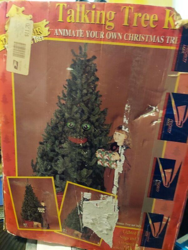 1996 Talking Tree Kit Douglas fir animate any size Christmas tree sings talks