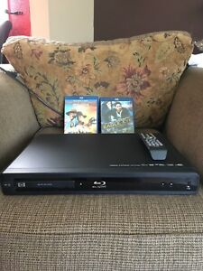 HP Blu-Ray disc player with 2 movies