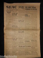 Wwii Era Seac (south East Asia Command) Newspaper July 27th 1944, Military, War -  - ebay.co.uk
