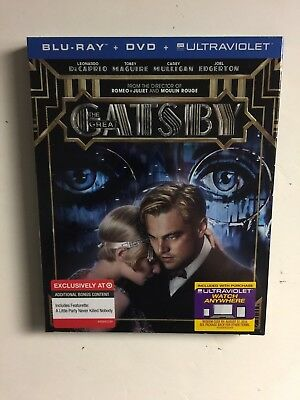 The Great Gatsby (Blu-ray/DVD, Digital HD, 2013) Target NEW w/slipcover ](Great Pg-13 Halloween Movies)