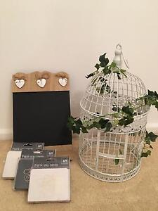 White Wedding Bird Cage , Blackboard and Thank you cards West Pymble Ku-ring-gai Area Preview