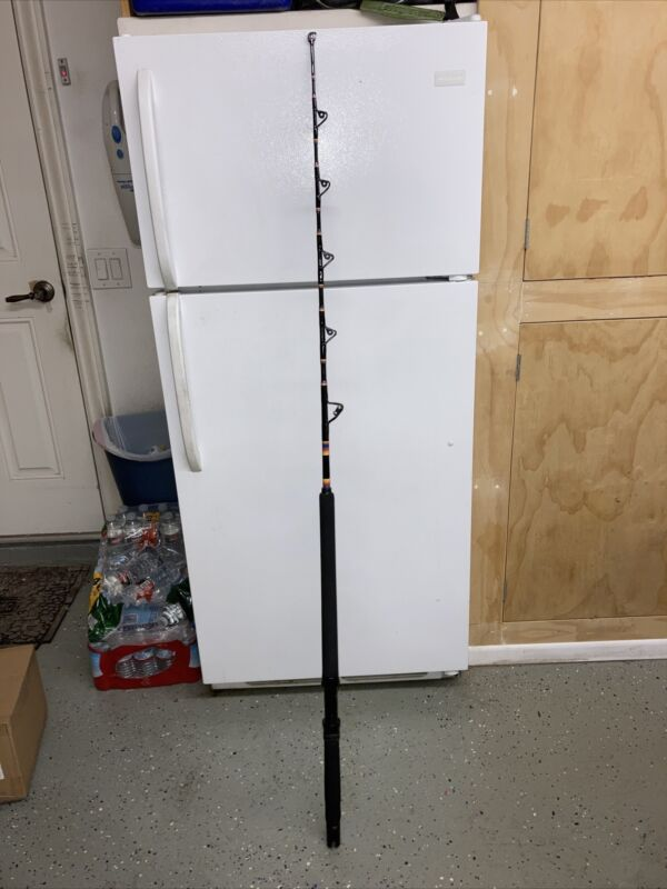 CALSTAR 655XH CUSTOM WRAPPED FISHING ROD, EXCELLENT CONDITION, 40-100LB LINE !!!