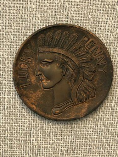 RARE LUNA PARK CONEY ISLAND NYC GIANT SOUVENIR COIN L@@@@K