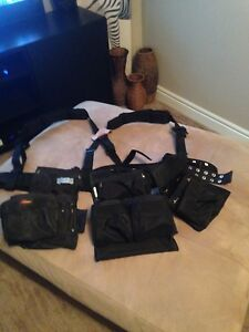 Professional tool belt with padded suspenders