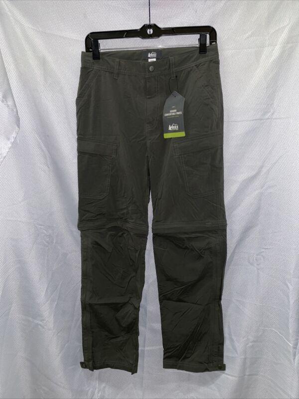 REI Sahara Convertible Pants - Dark Army Cot - Boys Large (14-16)