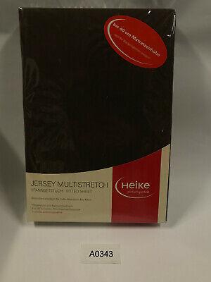 Jersey Multistretch Spannbetttuch 40cm Matratzenhöhe 110x200 -130x220cm Cafe
